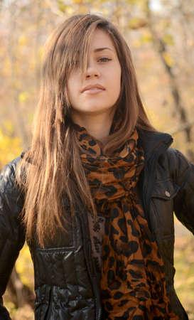 close up portrait of beautiful woman photo