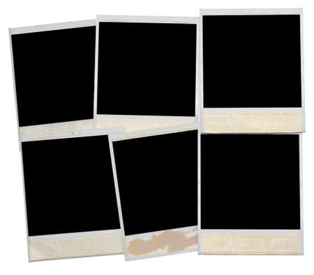 real old photo frames isolated on white photo