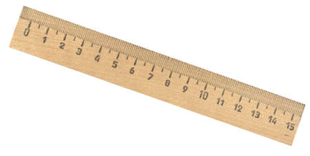 wooden ruler isolated on white photo