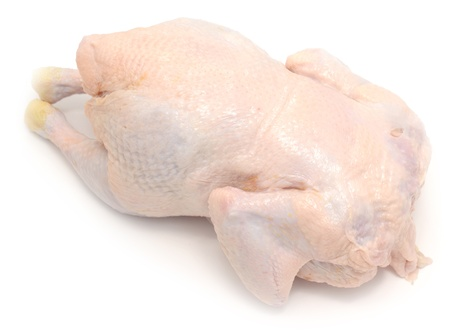 fresh raw chicken on white photo