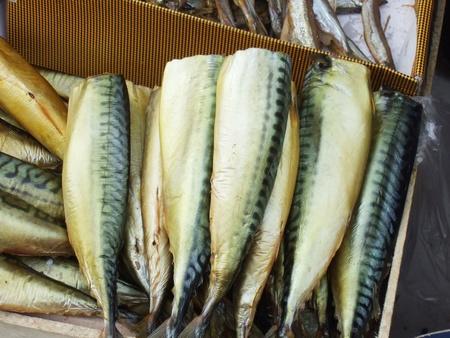 smoked mackerel on a market Stock Photo - 11886716