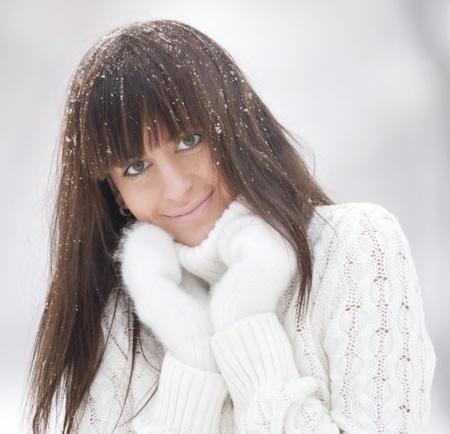 winter portrait of beauty woman photo