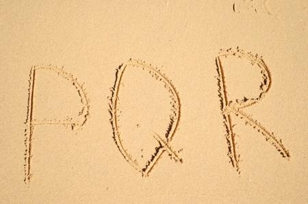 sand alphabet photo