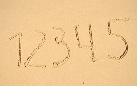 numbers on sand photo