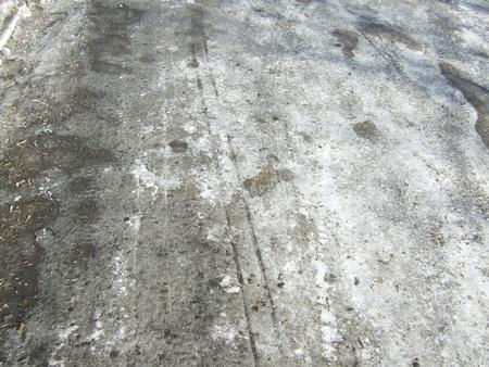 icey: melting ice on road