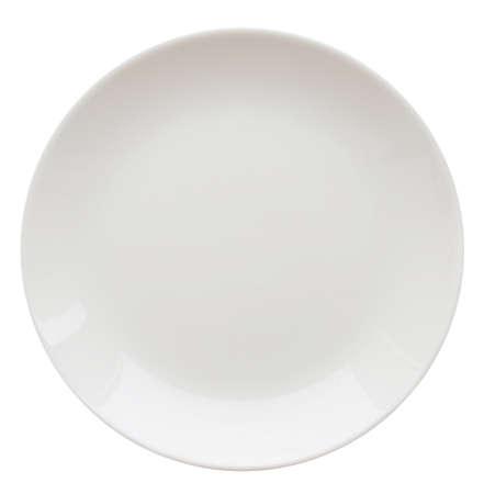 plato de comida: plato blanco aislado en blanco