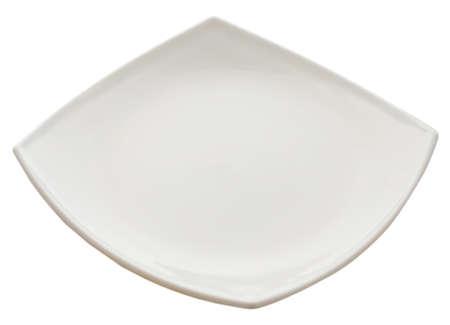 vierkante plaat geà ¯ soleerd op wit Stockfoto