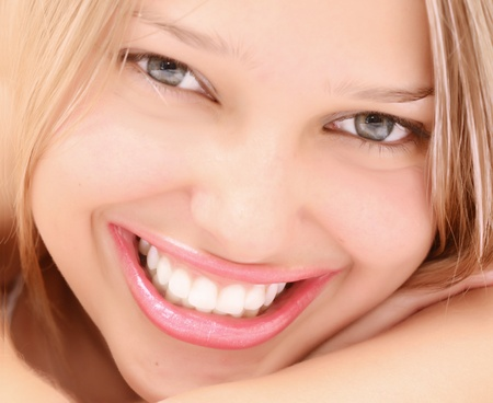 close up of smiling woman photo