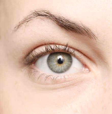 close up of beautiful woman eye
