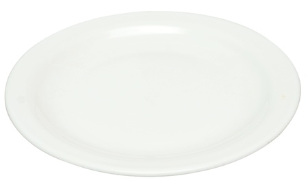 empty plate isolated on white Stock Photo