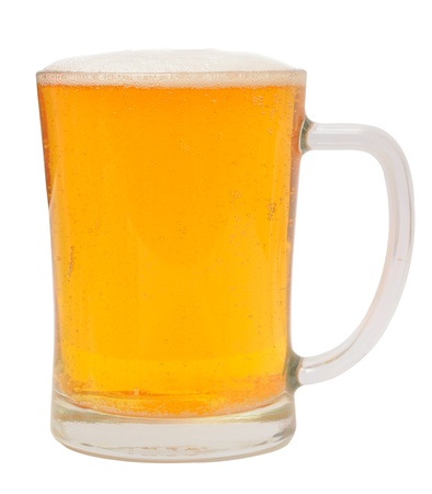 mug of beer isolated on white photo