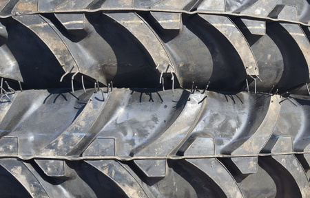 close up of new tractor tires photo