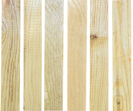 new wooden boards isolated on white photo