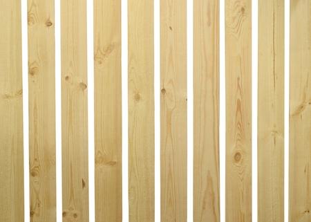 Wooden fence isolated on white background photo
