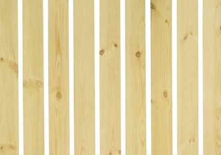 Wooden fence isolate on white background photo