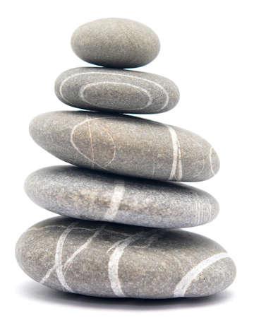 Ausgleich Steine ??isoliert auf weißem Hintergrund