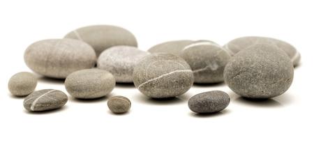 round stones isolated on white Stock Photo - 22321480