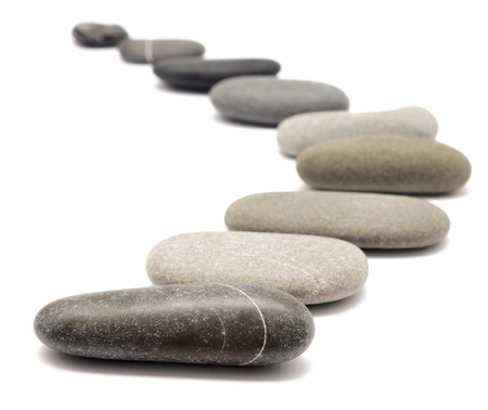 stepping stone: stones isolated on a white background Stock Photo