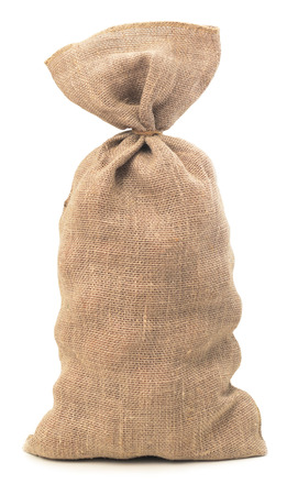 linen sack isolated on white background photo