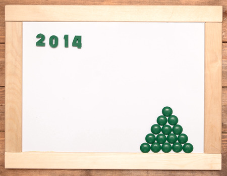 number 2014 on wooden frame Stock Photo - 23743067