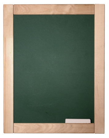 blackboard with chalk isolated on white background photo