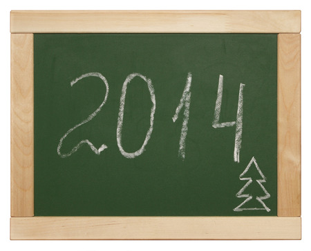 2014 written on blackboard Stock Photo - 26363959
