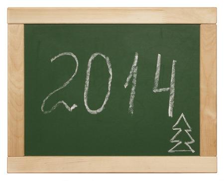 2014 written on blackboard photo