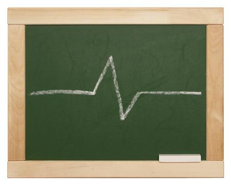 risky love: lavagna con linea su sfondo bianco