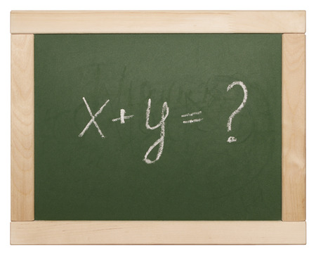 equation on blackboard photo