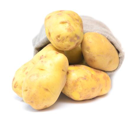 fingerling: potato isolated on white background