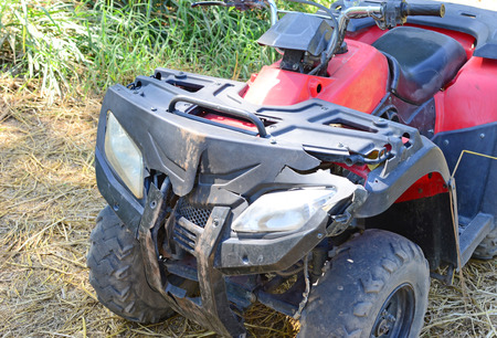 Nahaufnahme von abgestürzten ATV