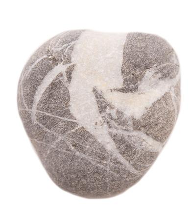 pebbly: stone heart isolated on white background Stock Photo
