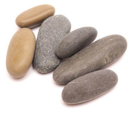 sea stone isolated on white background photo