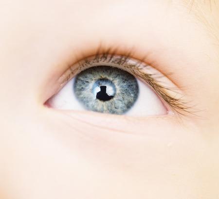 black eyes: close up of baby eye