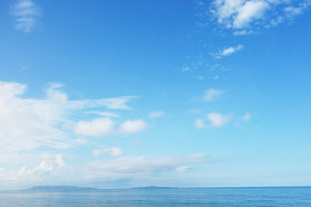 romance sky: blue sky and sea Stock Photo