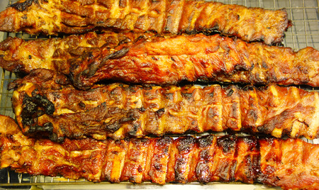 bar b que: grilled pork ribs
