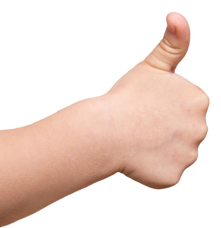 baby thumb up photo