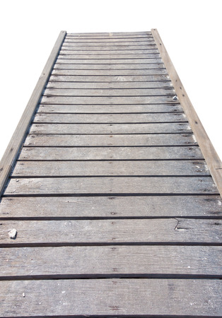 long term goal: wooden bridge isolated on whtte background