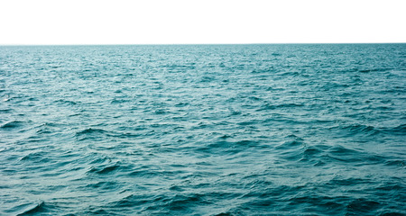 sea water isolated on white background