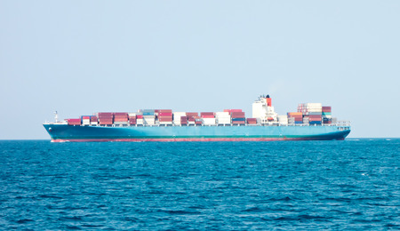 Frachtschiff im Meer
