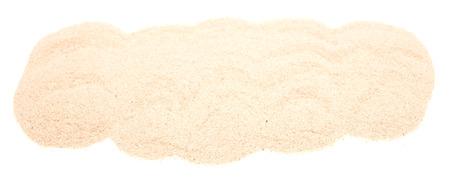 white sand isolated on white background photo