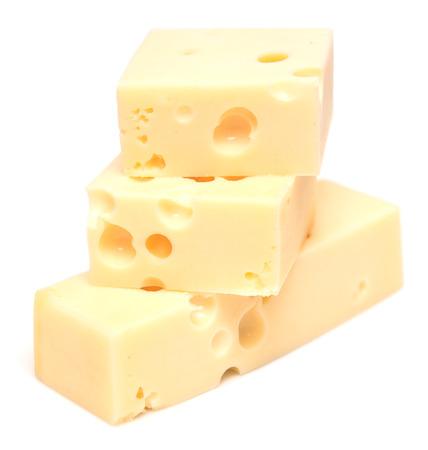 fresh cheese isolated on white background photo
