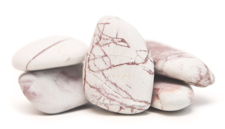 pebblestone: smooth stones isolated on white
