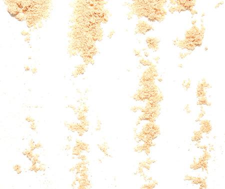 sand isolated on white background photo