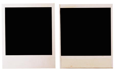 proceeding: photo frames isolated on white Stock Photo
