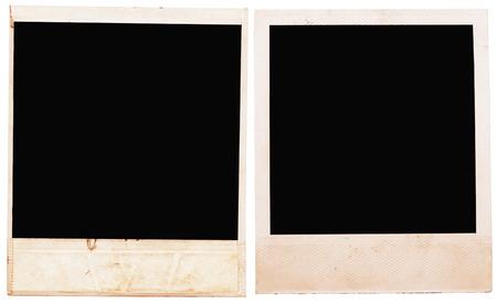 image style: photo frames isolated on white background Stock Photo