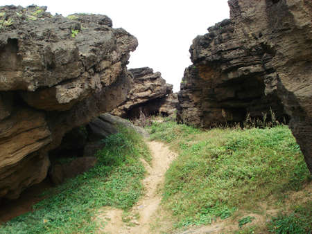 off path: Path up the cliffs at Diu