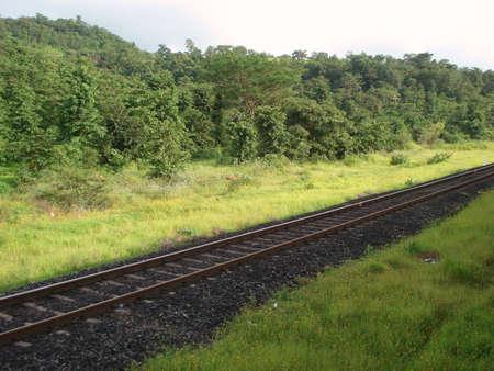 onbepaalde: Spoorlijn in India Stockfoto