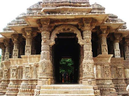 ancient yoga: Sun Temple, Modhera, front view