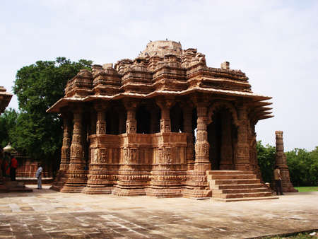 gujarat: Sun Temple Modhera, side view